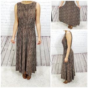 AA Studio maxi stretchy brown full cover dress 8-l